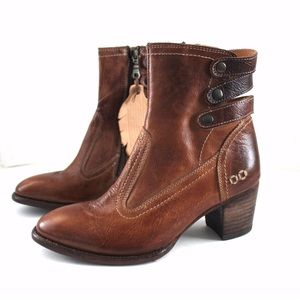 Bed Stu Shoes - BedStu Dowan Congac Leather With Straps Bootie